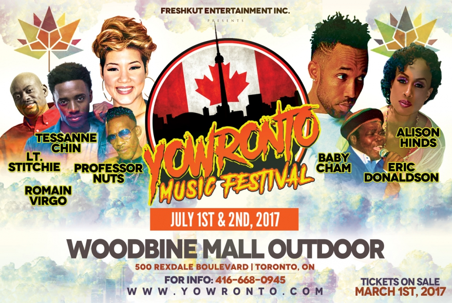 119 Days Of @YOWronto Music Festival PreEvent Celebrations: Join @Tessanne @AlisonHinds @TheCham On Canada Day
