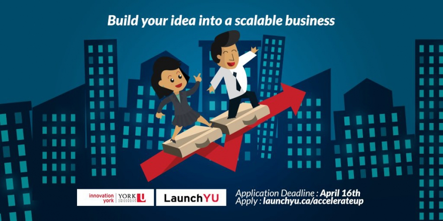 Turn Your Venture Into A Thriving Business With AccelerateUP! Up To $8,000 In Funding Available @LaunchYU_York @matrixthinker