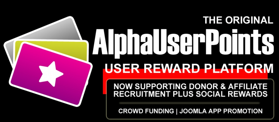 AlphaUserPoints: Leading Rewards Management System For Joomla Is Now Better Than Ever
