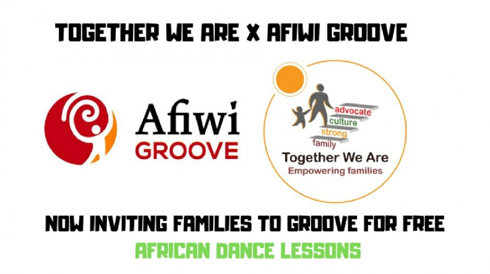Are You A Parent With A Child Between The Ages Of 6-11? Register Now For Free African Dance Lessons For You And Your Child Provided By Together We Are and Afiwi Groove Dance School
